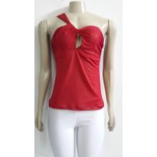 Camiseta Feminina Com Brilho Vermelha