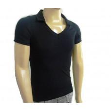 Camiseta Masculina Básica Gola V Polo