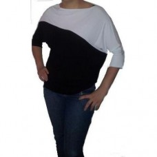Blusa Feminina Modelo Black White