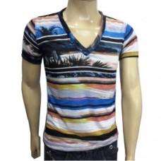 4e05b9af2a Camiseta Masculina Gola V Estampada