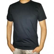 Camiseta Masculina Básica Algodão Preta Manga Curta