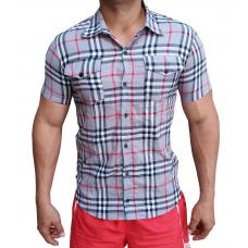 Camisa Masculina Xadrez Com Bolso