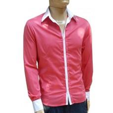 Camisa Social Masculina Slim Fit Goiaba