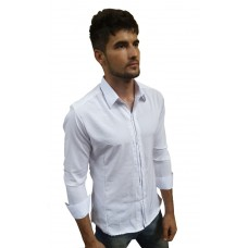 Camisa Masculina Social Slim Fit Branca