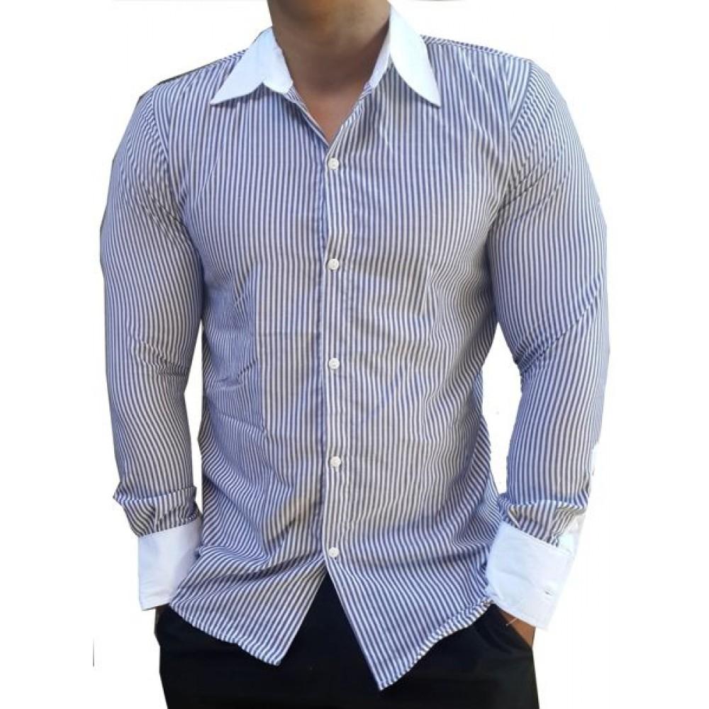 780283a713 Camisa Social Slim Fit manga longa Listrada