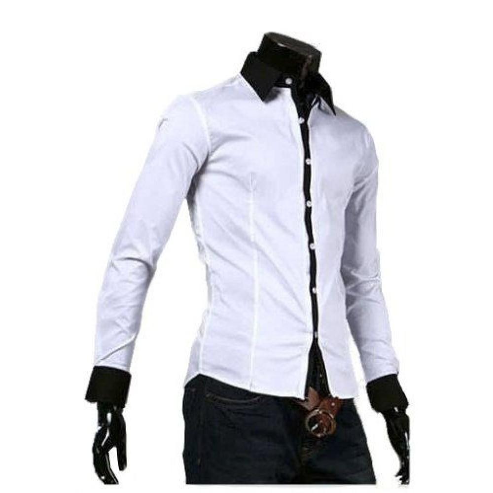 3da9ffa0b Camisa Social Masculina Slim Fit Branca