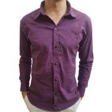 Camisa Social Masculina Slim Fit Roxo