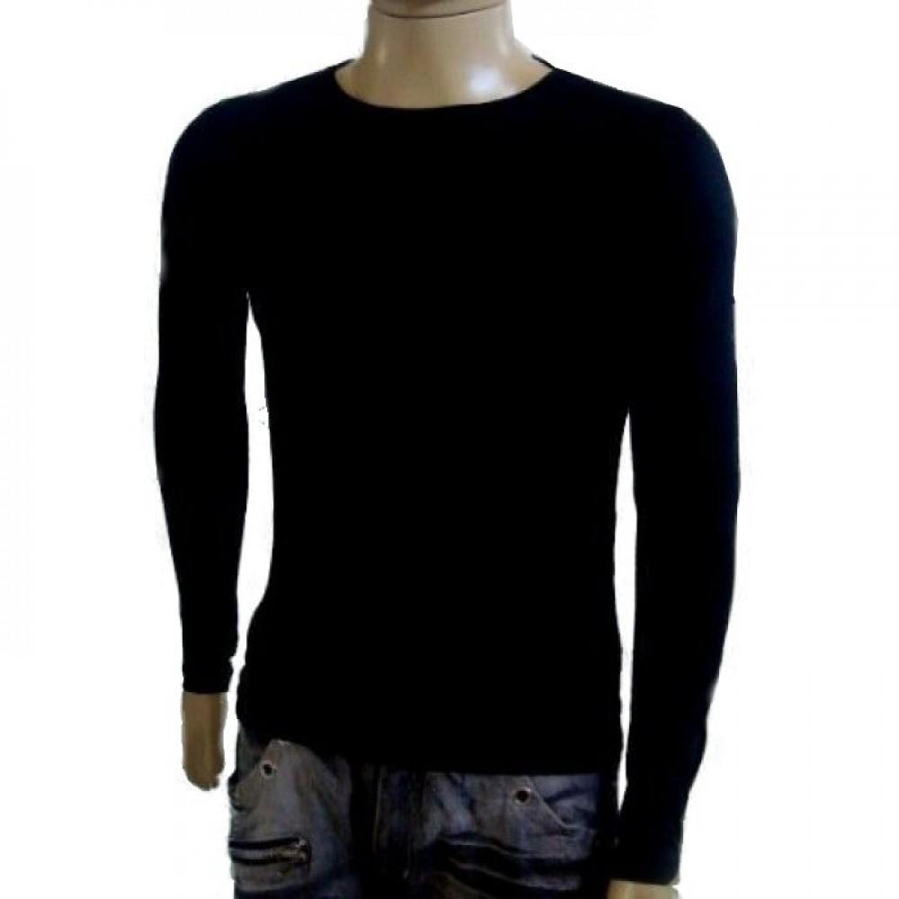 Camiseta Masculina Termica Segunda Pele Gola Redonda Manga Longa c1f273dde9a4b