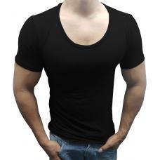 Camiseta Masculina Básica Gola Canoa Manga Curta