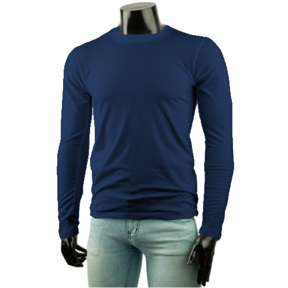 061b6ed1e ... Camiseta Masculina Básica Algodão Manga Longa ...