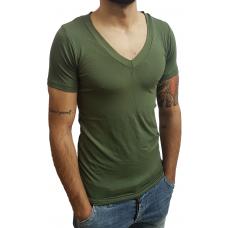 Camiseta Masculina Gola V Funda Manga Curta