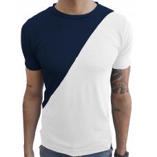 94e2b06107 Camiseta Masculina Duas Cores Gola Redonda Manga Curta