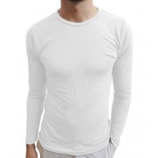 Camiseta Masculina Básica Gola Redonda Manga Longa