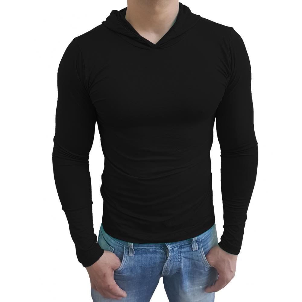 658b025087 ... Camiseta Masculina Com Capuz Manga Longa ...