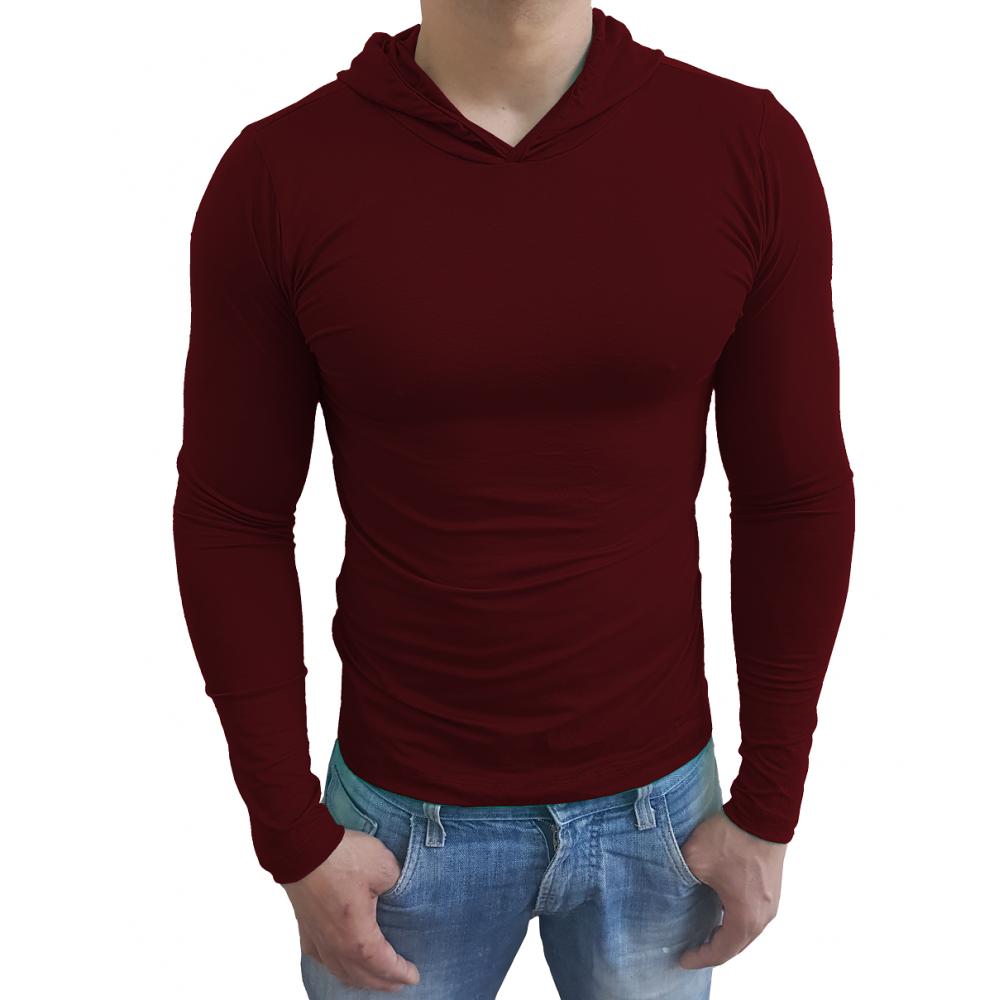 aec853156c Compre Camiseta Masculina Capuz Manga Longa   Sjonsmodas.com