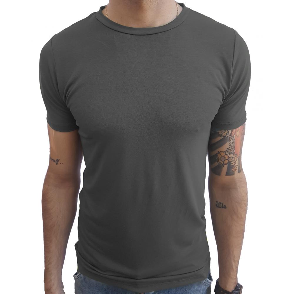 9803dbb3ef Camiseta Masculina Básica Slim Gola Careca Manga Curta ...