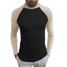 Camiseta Masculina Raglan Manga Longa