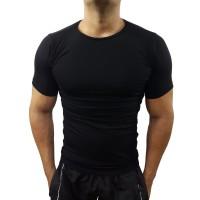 Camiseta Masculina Slim Gola Redonda de Vies