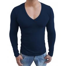 faa7032a9d Camiseta Masculina Gola V Funda Manga Longa