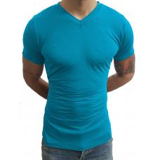 Camiseta Masculina Gola V Rasinha Manga Curta
