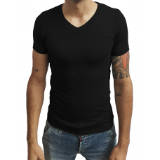 Camiseta Masculina Gola V Rasa Manga Curta