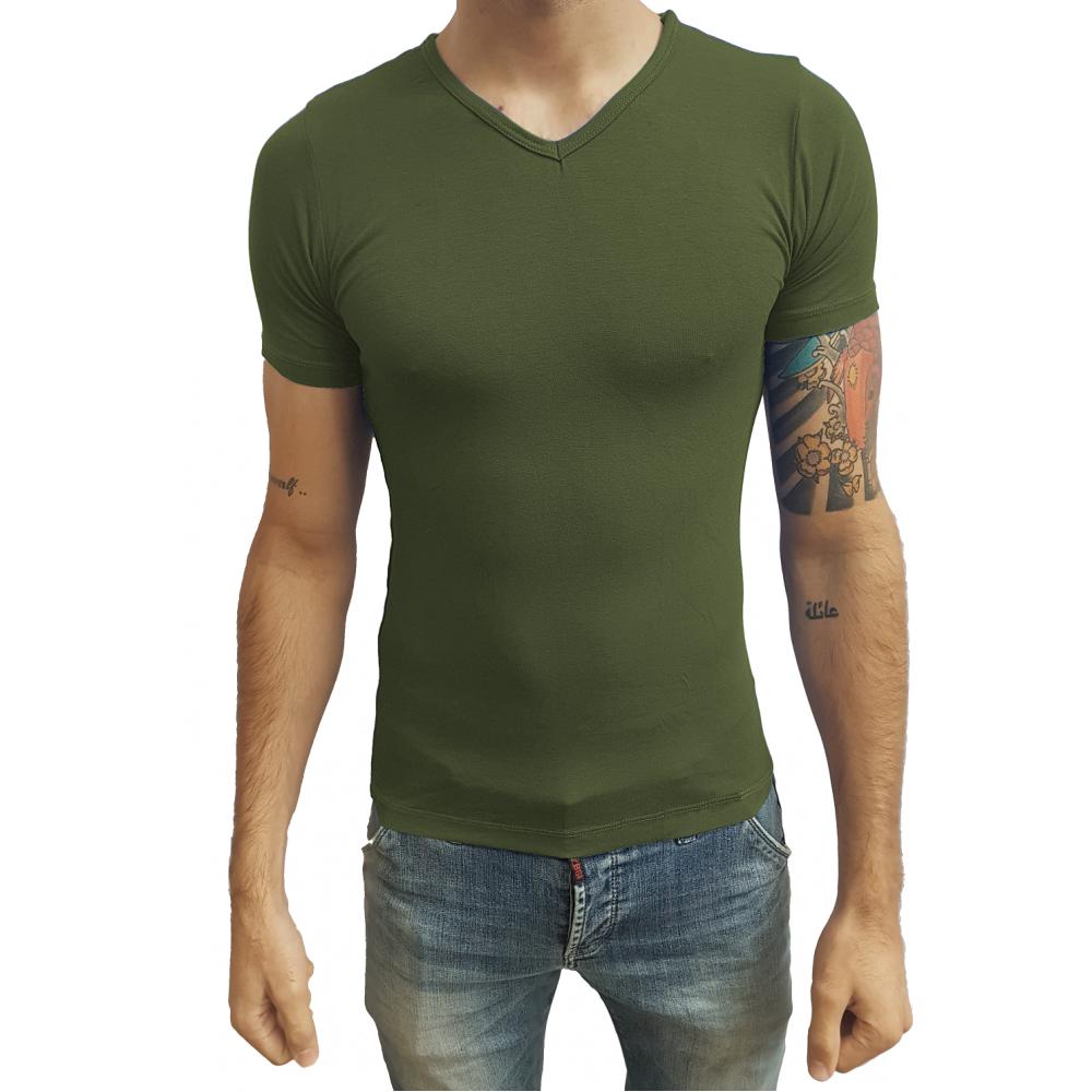 Compre Camiseta Masculina Gola V Viés  4838446a990c2