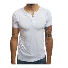 Camiseta Masculina Henley Manga Curta