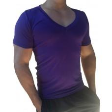Camiseta Masculina Gola V Cavada Manga Curta